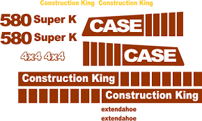 580 super k new replacement decal kit
