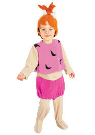jetsons halloween costumes child pebbles costume toddler pebbles flintstones halloween costumes