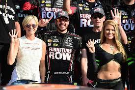 furniture row black friday furniture row racing pit crew suspensions martin truex jr reacts