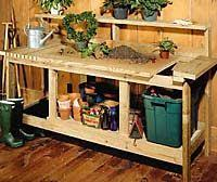 Garden Potting Bench Ideas The Look Of This Potting Bench The Pull Out Bins For