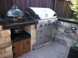 outdoor kitchen appliances reviews outdoor kitchen with green egg grills smokers natural gas grills big