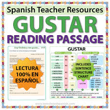 gustar u2013 spanish reading passage and worksheets woodward spanish