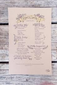 how to make a wedding program single page wedding program templates for illustrator