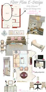 Tiffany Leigh Interior Design Floor Plan EDesign Girly Glamour - Interior design presentation board ideas