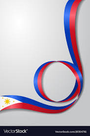 philippines flag wavy background royalty free vector image