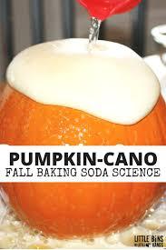 pumpkin volcano science activity baking soda science