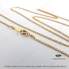 gold filled chain necklace images 16 inch 1 1mm cable chain finished necklace 14k gold filled fc24 jpg