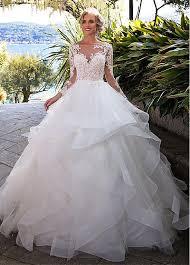 wedding dresses gowns buy discount fantastic tulle bateau neckline gown wedding