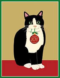 caspari cards entertaining with caspari cat with ornament