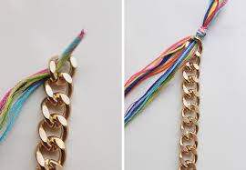 braided bracelet with chain images Diy double wrapped braided chain bracelet jpg