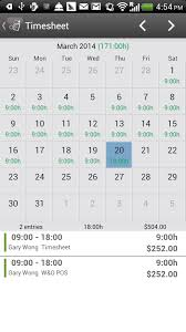 timesheet time card work hour android apps on google play