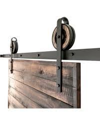 Barn Door Closet Hardware Deals On Rustic Slide Barn Door Closet Hardware Set 6 4 Roller