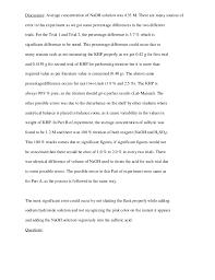 lab report conclusion template lab write up conclusion sle