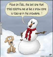 Snowman Meme - funny snowman and dog cartoon