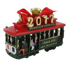 francisco 2017 cable car holiday ornament
