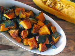 roasted kabocha squash with soy sauce butter and shichimi