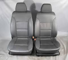 bmw e60 5 series front seats pair left right black leather power