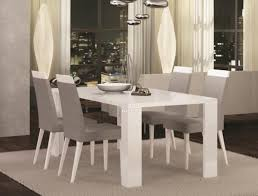 White Gloss Dining Room Table by Elegance Diamond Fixed Or Ext White High Gloss Dining Table And