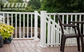 How To Build A Deck Handrail Vinyl Railings U0026 Porch Railing Systems Rdi