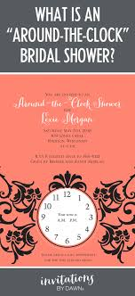 around the clock bridal shower what is an around the clock bridal shower