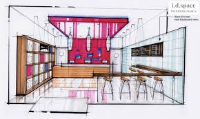 Interior Design Sketches by Design For Pan Asian Fast Food Takeaway By I D Space Interior