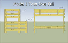 Building Plans For Twin Over Full Bunk Beds With Stairs by Twin Over Full Bunk Bed Woodworking Twin Over Full Bunk Bed Diy