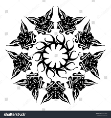 round pattern circular ornament design element stock vector