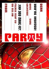 spiderman party invitation ideas superhero comic book party