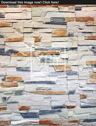 Home Design And Plans Free Download Empty Room Interior With Whit Brick Wall And Stone Floor Stock