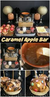 caramel apple buffet halloween party moms u0026 munchkins