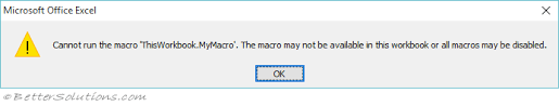 vba macros troubleshooting