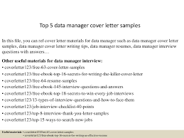 top5datamanagercoverlettersamples 150621080522 lva1 app6891 thumbnail 4 jpg cb u003d1434873973