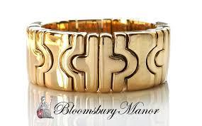 bvlgari vintage rings images Bulgari vintage 18k yellow gold parentesi ring size l jpg