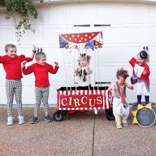 circus group costume halloween strong man lion clown ringmaster
