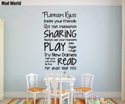mad world playroom rules children play wall art stickers wall