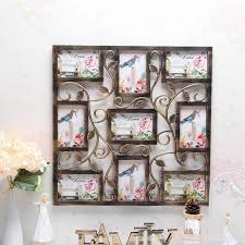 yazi bronze color wall hanging collage square picture frame photo