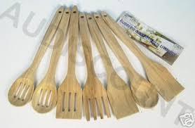 ustensiles de cuisine en bois set de cuisine 7 ustensiles en bois