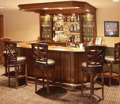 friendly home bar design idea with open glass shelves unique