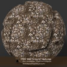 10 seamless pbr wet ground textures with texture maps 2d graphics