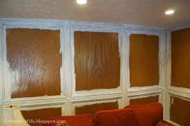 Wood Paneling Walls by A Crafty Wife I Finally Painted Our Wood Judges U0027 Paneling