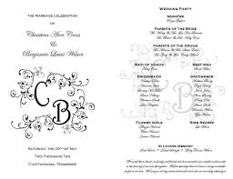 in memory of wedding program 35 best printable wedding programs images on wedding