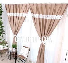 Smocked Burlap Curtains Smocked Burlap Curtains Burlap Curtains With And Ottoman For Home