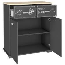 commode de cuisine avec 2 portes et 2 tiroirs coloris gris graphite