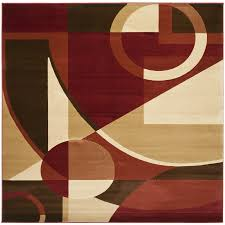 Geometric Area Rug by Shop Safavieh Porcello 7 Ft X 7 Ft Red Geometric Area Rug At Lowes Com