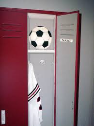 Lockers For Home by Kid Bedroom Divine Picture Of Red Football Locker For Kid Room