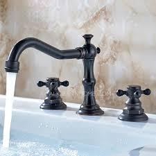 oil rubbed bronze black bathroom sink faucet