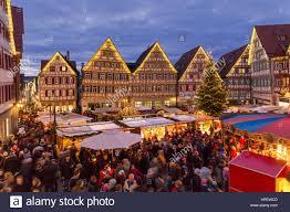 Weihnachtsmarkt Baden Baden Deutschland Baden Württemberg Herrenberg Weihnachtsmarkt Blick