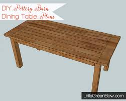 Teal Dining Table Diy Pottery Barn Dining Table Plans
