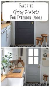 what color to paint interior doors gray paint change up on our interior kitchen door nesting with grace