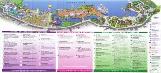 Map Of Wet N Wild Orlando by Downtown Disney Guidemaps